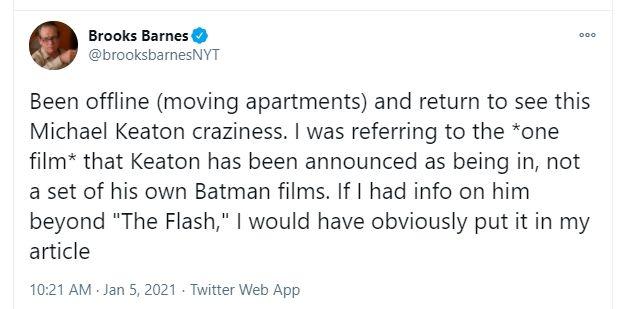 Klarifikasi, Michael Keaton Tidak Gantikan Ben Affleck sebagai Batman di DCEU