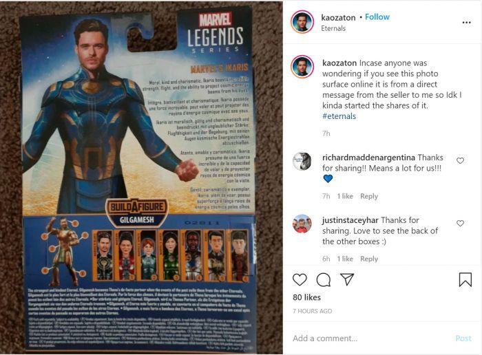 Tampilan Para Superhero Marvel di Film Eternals Bocor Lewat Mainan!