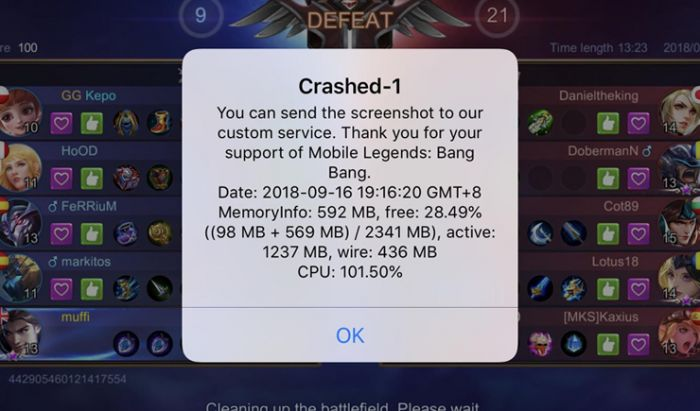 Aplikasi Mobile Legends.