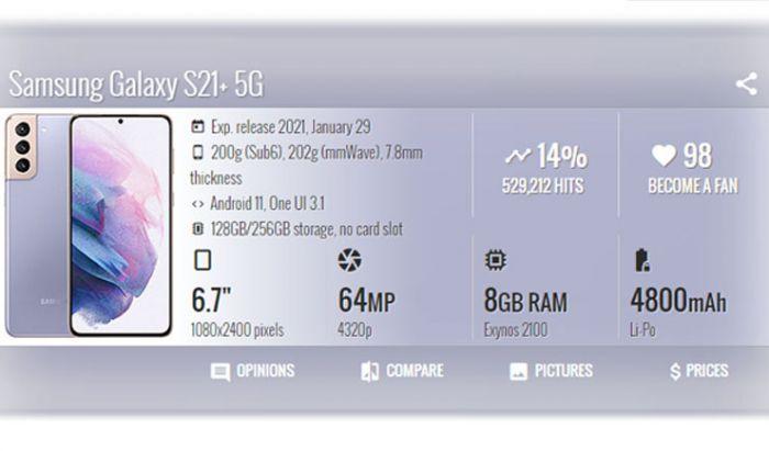Spesifikasi Samsung Galaxy S21 Ultra