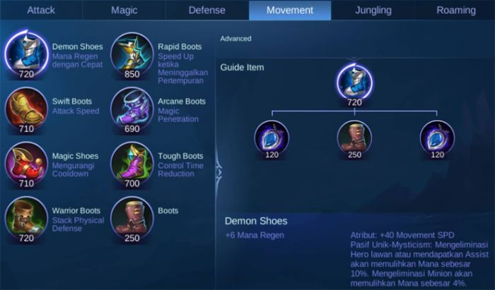 Item Sepatu Mobile Legends.