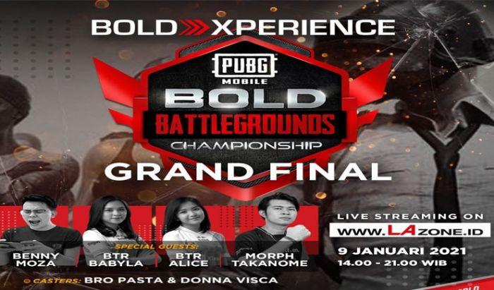 Turnamen PUBG Mobile Bold Battleground Championship.
