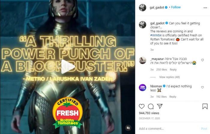 "Wonder Woman 1984 Resmi Dapat Predikat ""Busuk"" di Rotten Tomatoes"