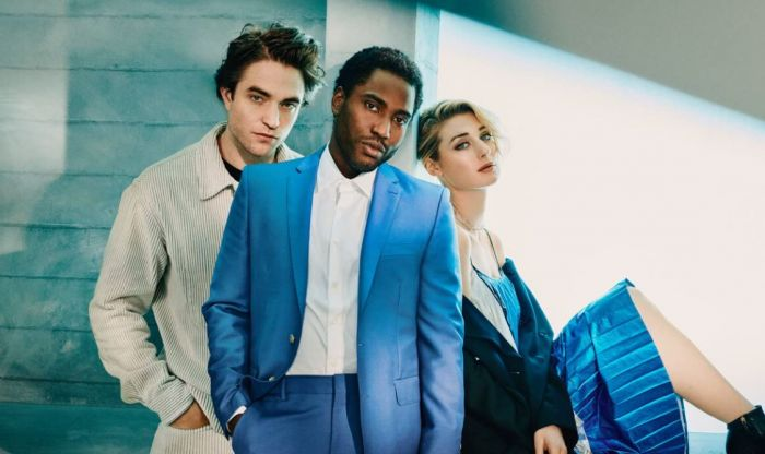 Robert Pattinson, John David Washington, dan Elizabeth Debicki.