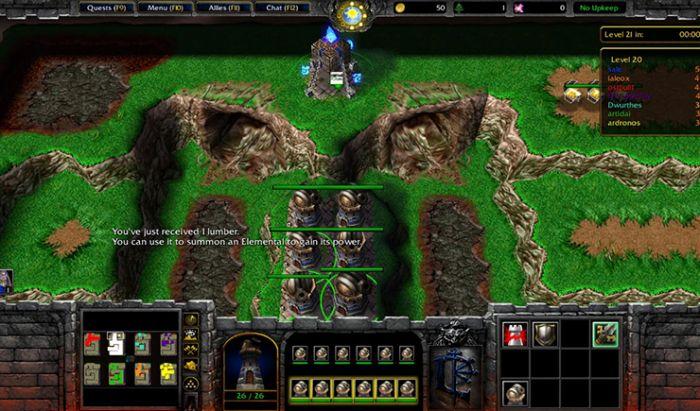 Mod Element TD Warcraft III: Frozen Throne.