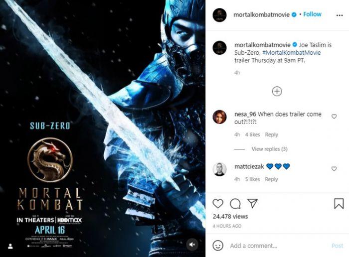 Joe Taslim Menjelma Jadi Sub-Zero di Foto Terbaru Film Hollywood Mortal Kombat