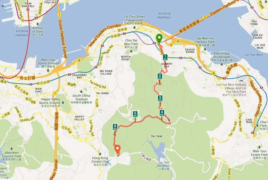 Quarry Bay to Parkview