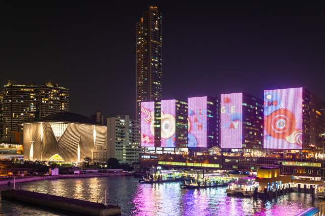 china hong kong city christmas lights display