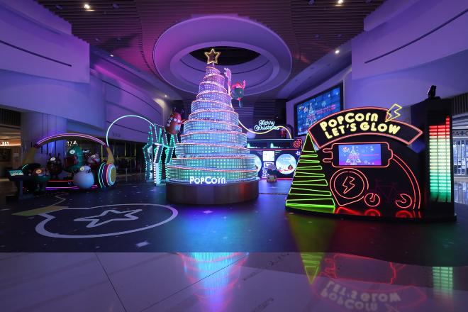 popcorn telford plaza christmas lights display