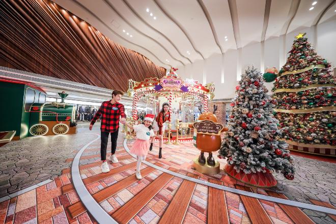 telford plaza christmas lights display