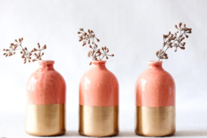 coral vases