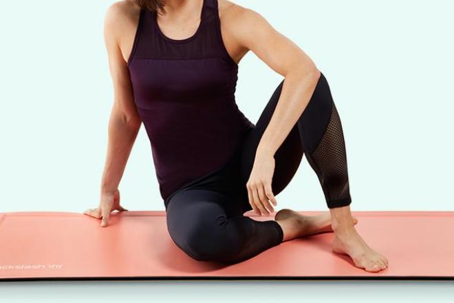 coral yoga mat