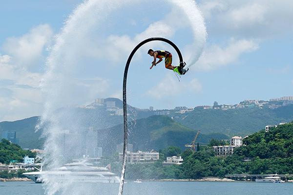 Water sports in Hong Kong flyboarding