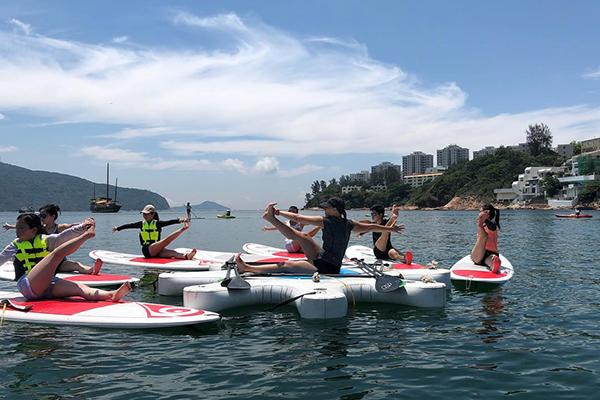 Water sports in Hong Kong SUP yoga