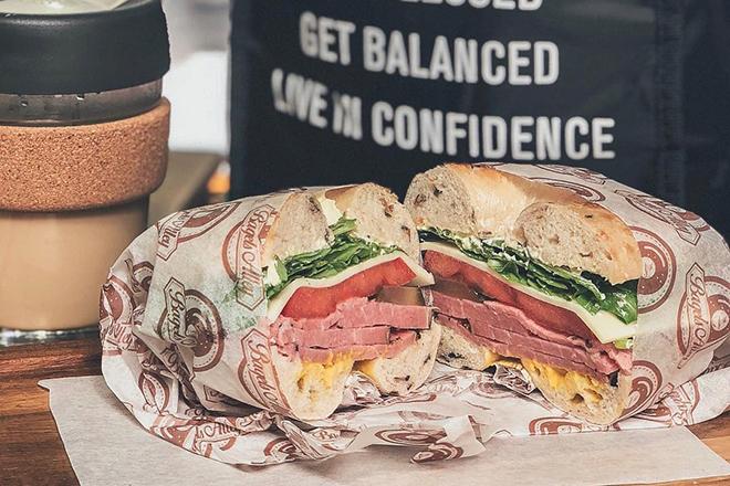 Best bagel sandwiches Hong Kong Bagels Alley