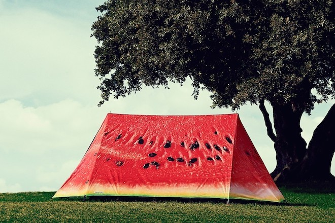 Christmas food gifts watermelon tent
