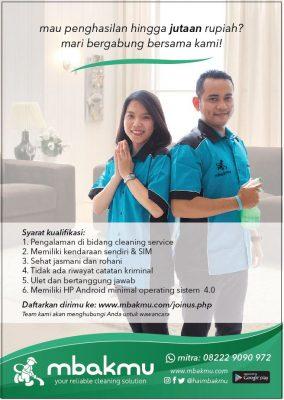 Lowongan Kerja Cleaning Service Pt Jasa Bersih Indonesia Mbakmu Surabaya Lokerindonesia Com