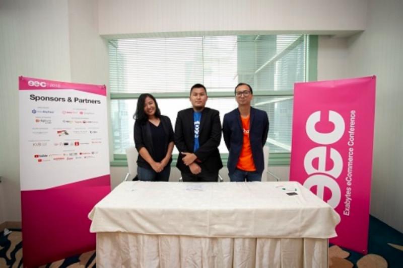 Narasumber dalam Konferensi Pers Exabytes eCommerce Conference (EEC) 2018. Foto: (doc/Panitia EEC 2018)