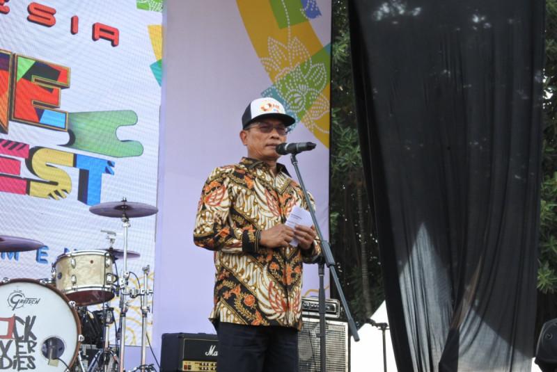 Kepala Staf Kepresidenan, Moeldoko, ketika membuka acara Indonesia One Fest 2018 di Jakarta, Kamis, 23 Agustus 2018 (dok/M-News)