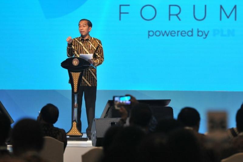 Presiden Joko Widodo di Kompas 100 CEO Forum Tahun 2018, di Jakarta Convention Center, Jakarta, Selasa (27/11/2018). Foto: (doc/Kominfo)