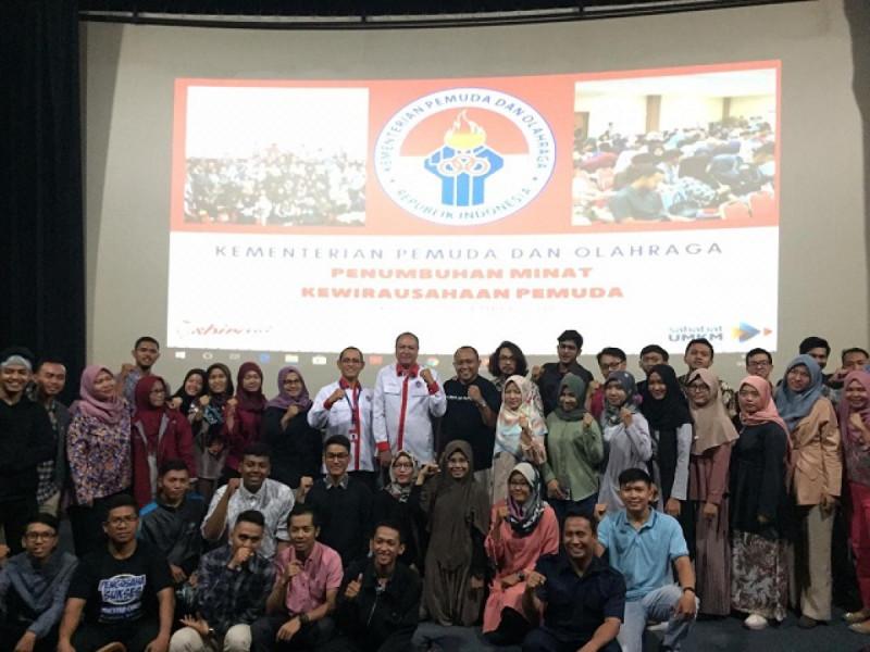 Acara penutupan Penumbuhan Minat Kewirausahaan Pemuda, di Gedung Kemenpora, Jakarta, Senin (3/12/2018). Foto: (doc/MNEWS).