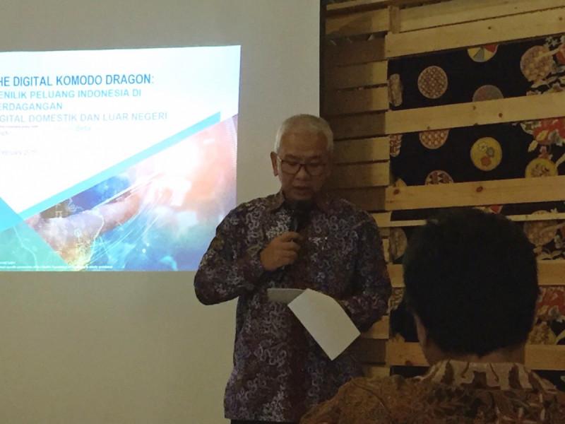 Deputi Bidang Koordinasi Ekonomi Kreatif Kemenko Perekonomian, Moh. Rudy Salahuddin, dalam peluncuran KOMODO DIGITAL di Kedasi Event Space, Jakarta, (12/2/2019). Foto: (doc/MNEWS).
