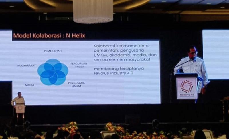 Menhub Budi Karya Sumadi saat membuka Seminar dan Dialog Nasional Kesiapan UMKM dan Ekonomi Kerakyatan pada Era Revolusi Industri 4.0. (Foto: ANTARA)