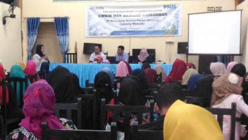 Kegiatan Program Pengembangan Kapasitas Usaha UMKM dan Berkah Ramadhan yang digelar PT.Permodalan Nasional Madani (persero) UlaMM Kwandang. Foto: ANTARA/Susanti Sako