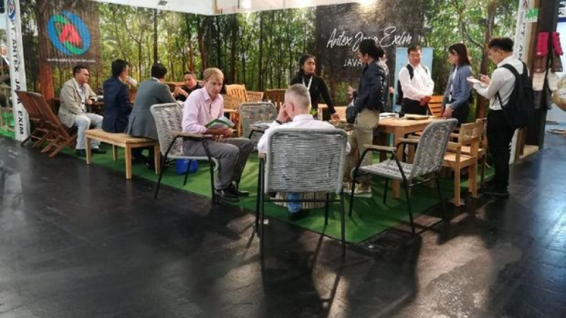 Produk Furnitur Indonesia di Pameran Internasional Spoga+Gafa 2019 di Kölnmesse, kota Cologne, Jerman, 1 -3 September 2019. (Foto : KJRI Frankfurt)