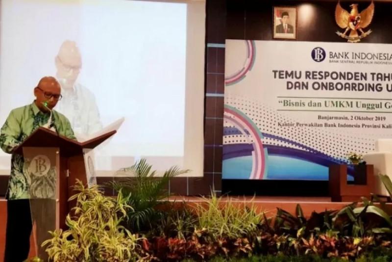 """Herawanto dalam Pembukaan Temu Responden 2019 dan Onboarding UMKM dengan """"Bisnis dan UMKM Unggul Go Digital"""" di Banjarmasin Rabu (2/10/19). (Foto : Antaranews Kalsel)"""