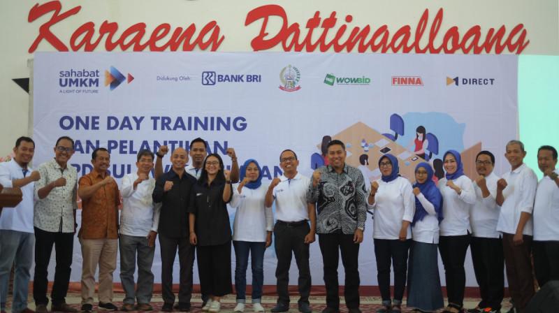 One Day Training dan Pelantikan Badan Pengurus Daerah Sahabat UMKM Sulsel, Makassar, Minggu (27/10/2019). (Foto: Komunitas Sahabat UMKM)