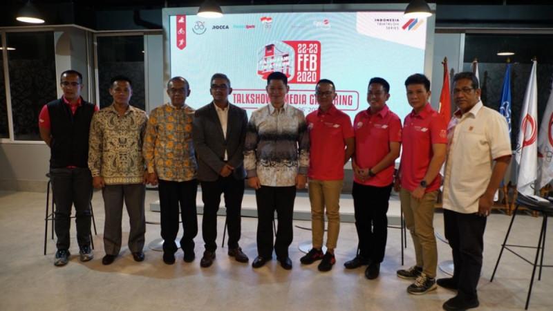 Kegiatan Acara Community & Media Gathering Palembang Triathlon 2020 . (Foto: Medcomid)