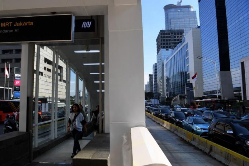 Stasiun MRT Bundaran Hotel Indonesia (HI). (Foto: Antara)