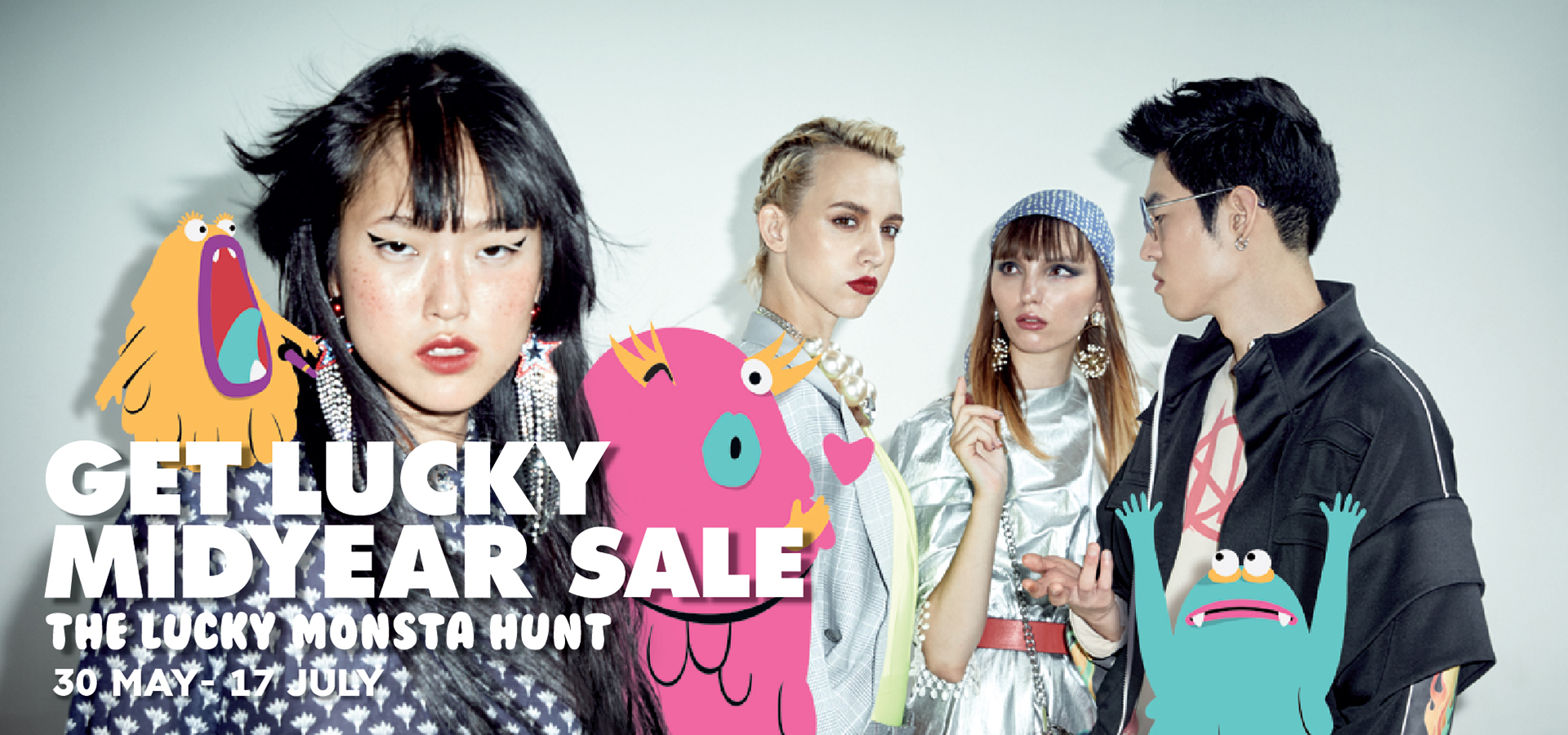 get lucky midyear sale the lucky monsta hunt
