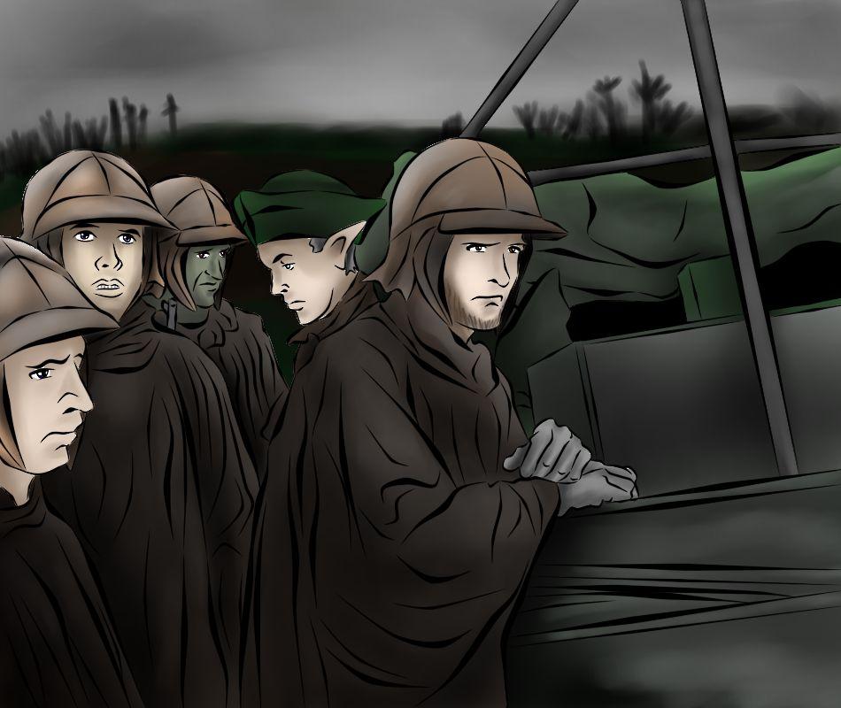 กองทหารเอลีเซี่ยน กองร้อยอัลฟ่า กองพันที่ 2 กรมทหารราบราสซิลวาเนียที่ 7 ณ เกาะนันจิม่า แนวรบตะวันออกไกล