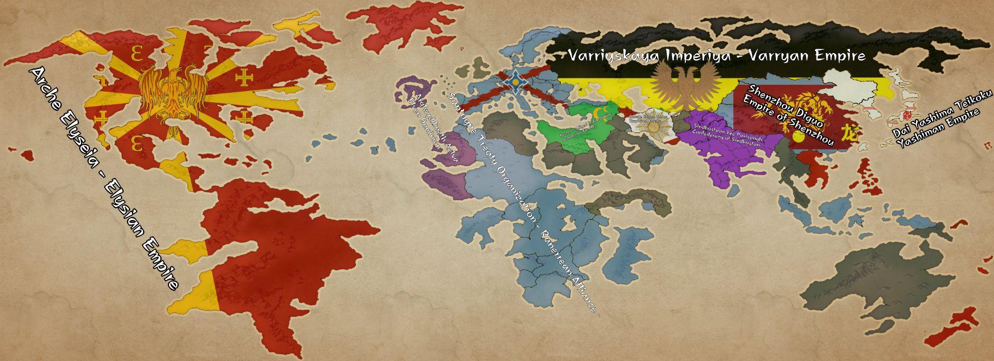 ในช่วงสามัญศักราชที่ 2694 - โลกได้แบ่งออกเป็นขั้วอำนาจต่างๆ