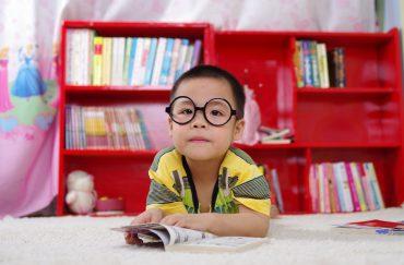 Kid enjoys books
