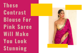 contrast blouse for pink saree