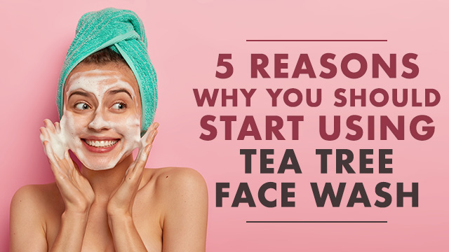 5 Reasons Why You Should Start Using Tea Tree Face Wash