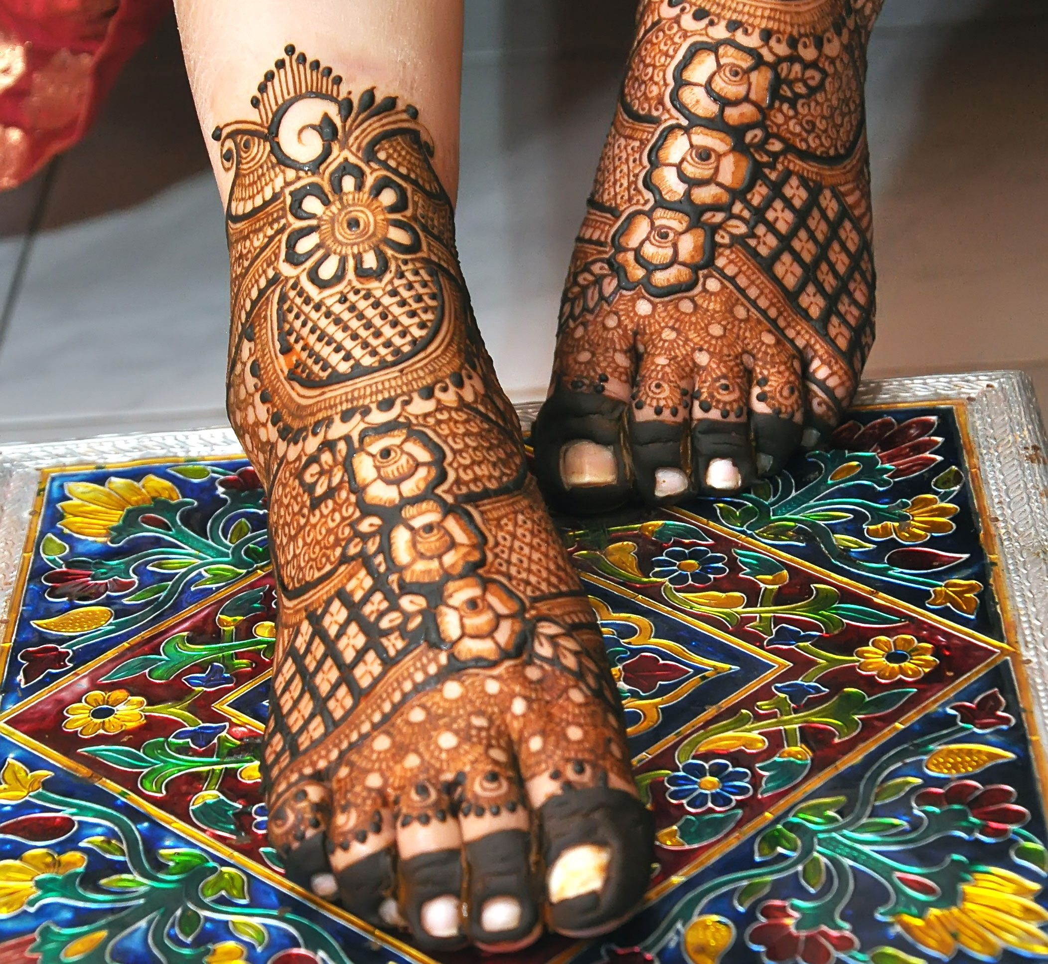 leg mehndi design bridal