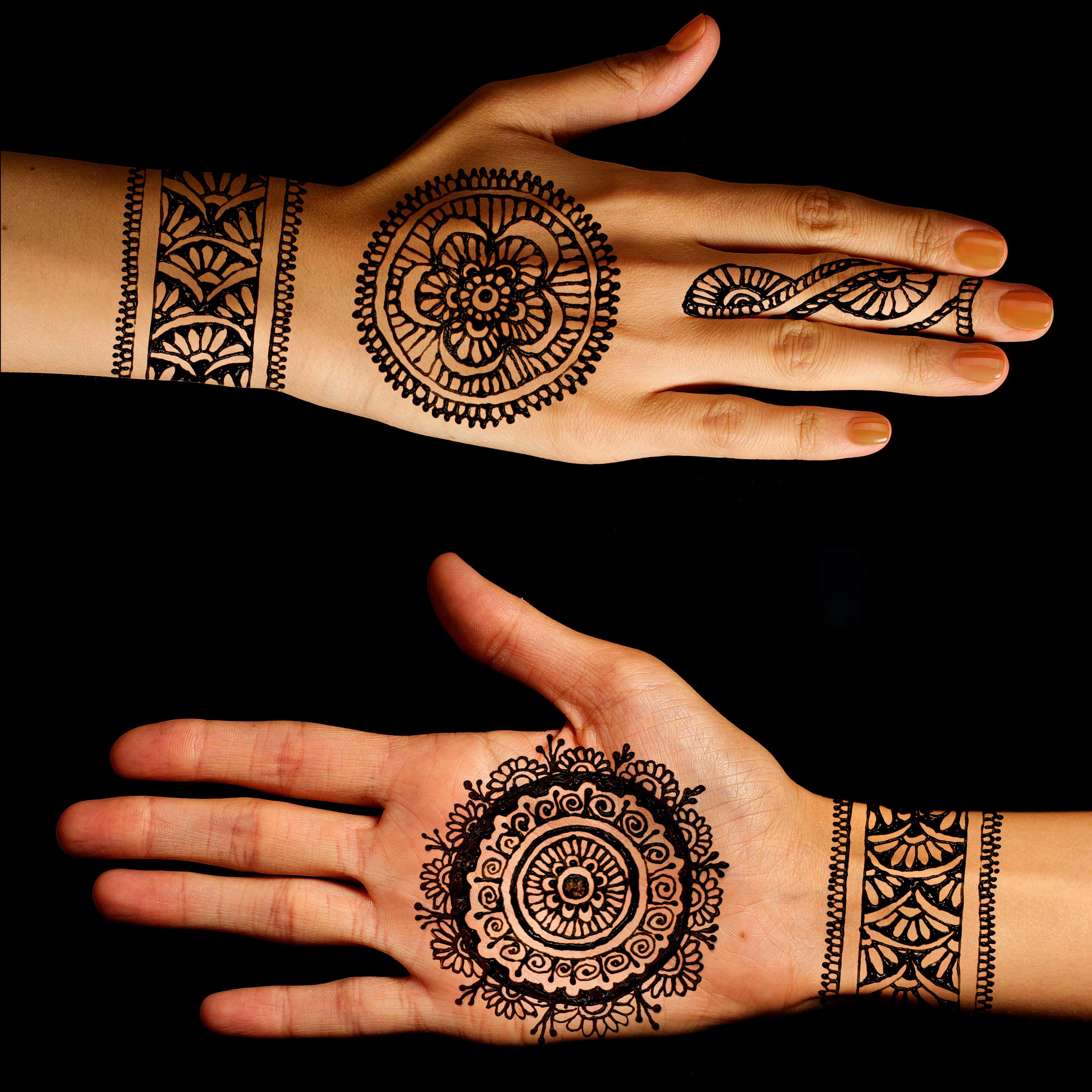 mehandi design for hands front