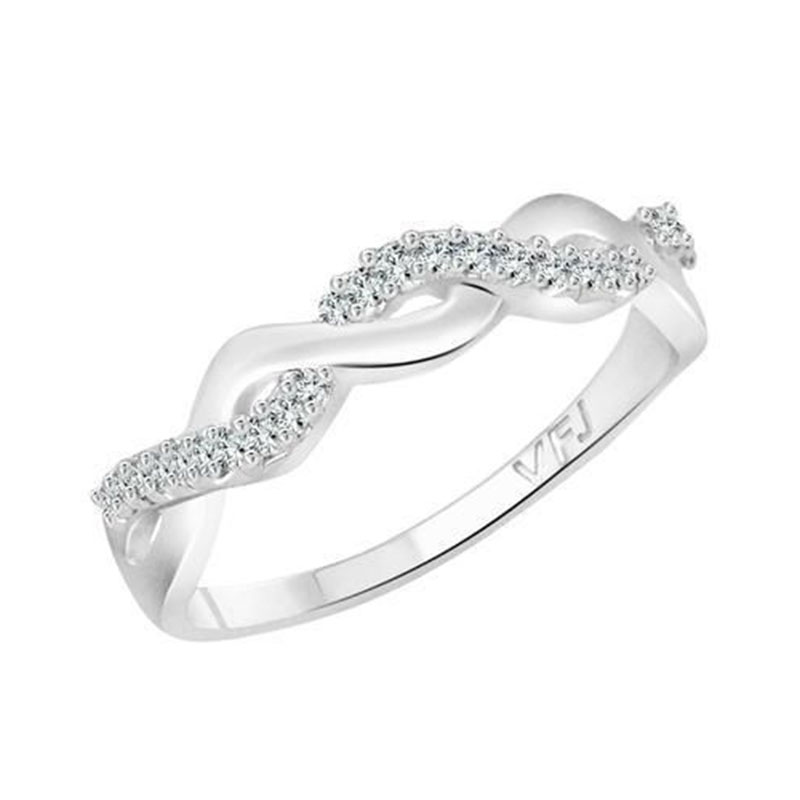 Braided Design Silver Ring