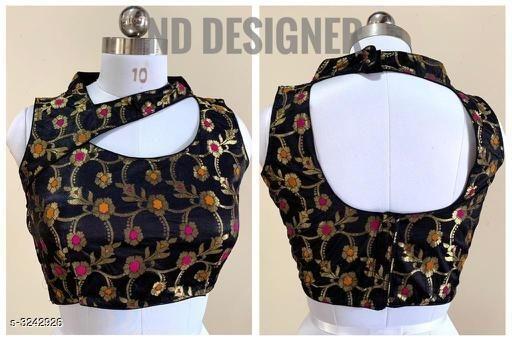 Asymmetric blouse neck design