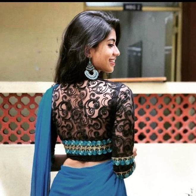 Lace Work Blouse Back