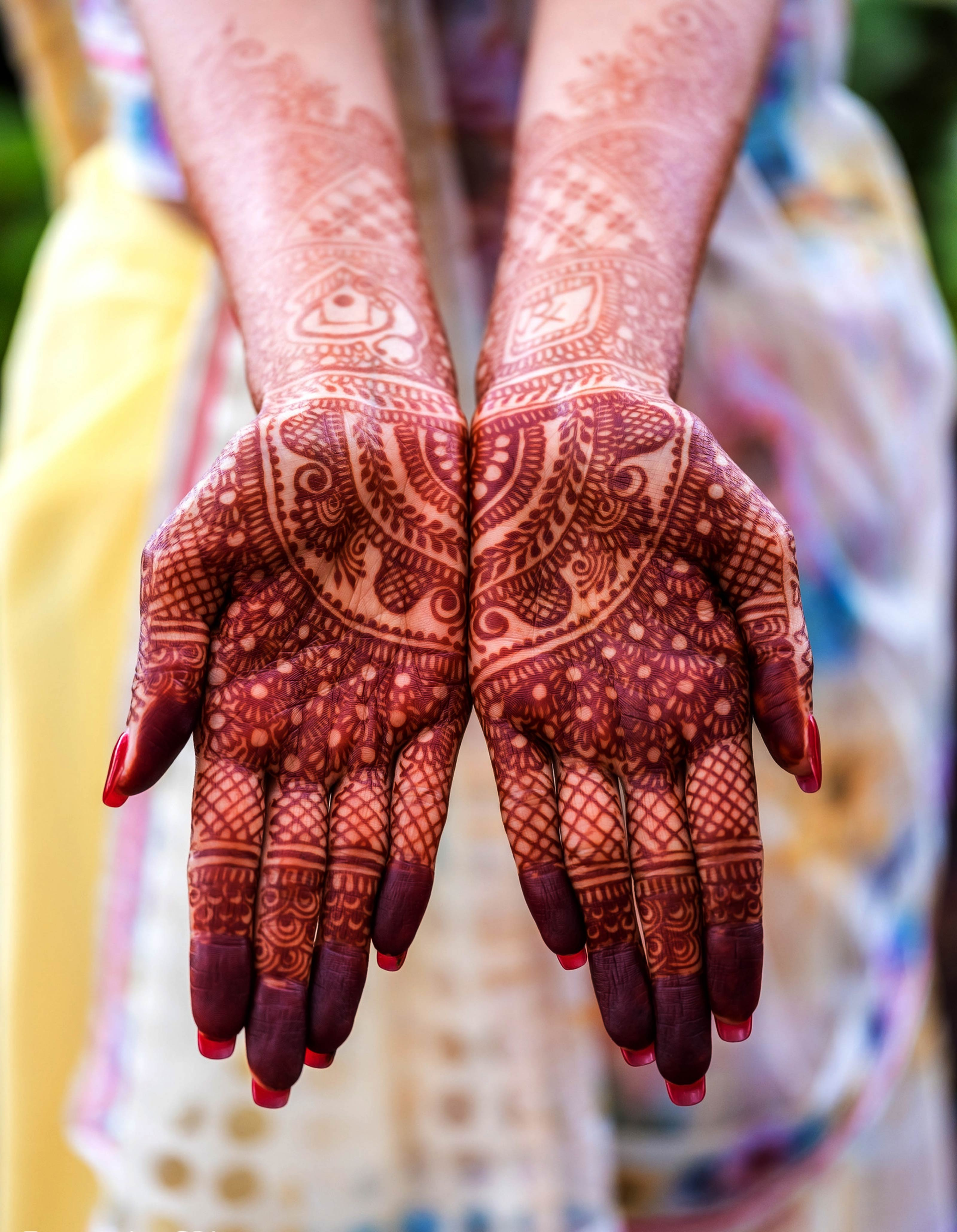 full front hand mehndi design