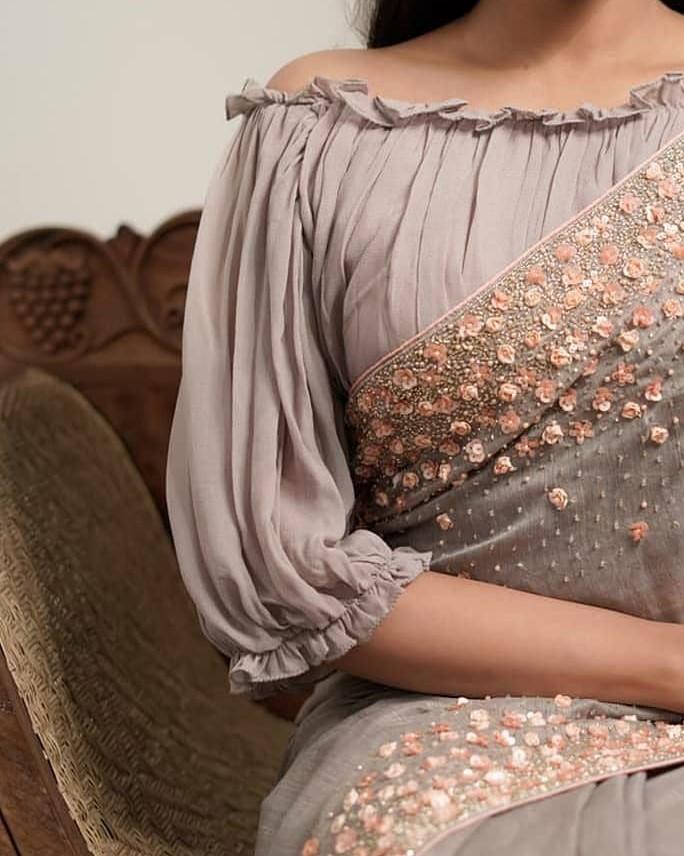 Full Flared Blouse Sleeve Design