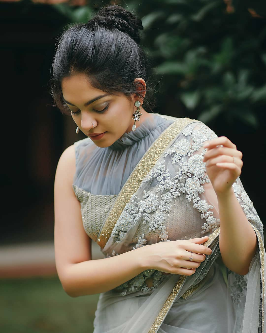 12 Latest High Neck Blouse Designs To