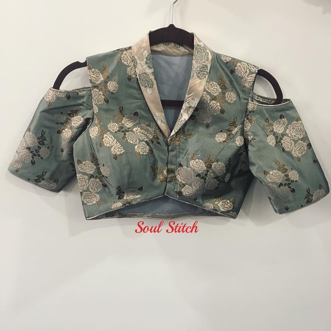 collar blouse designs