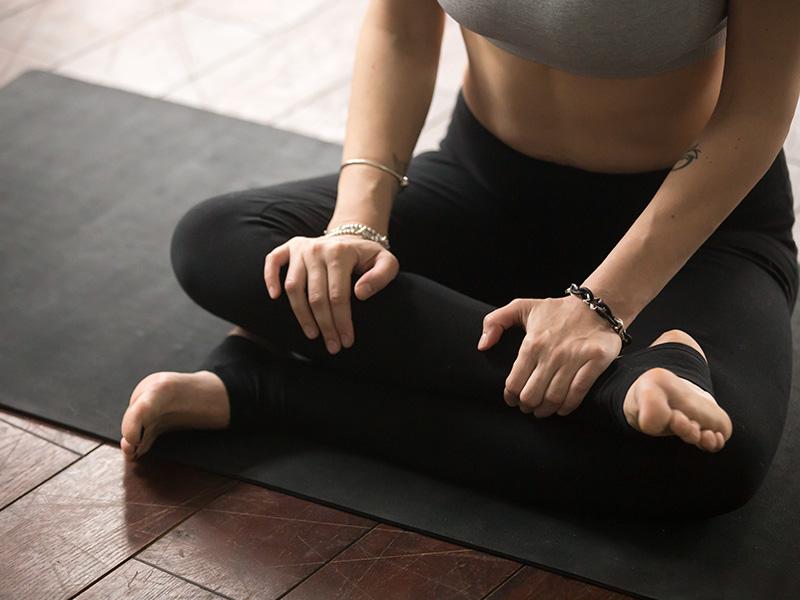 1. Ankle-to-knee pose (Agnistambhasana)