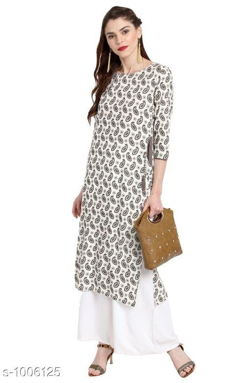 Ethnic Printed White Holi kurti